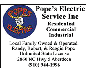 Pope's Electric - Call (910( 944-1996