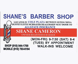 Shane's Barber Shop - Call (910) 944-1700
