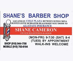 Shane's Barber Shop - Call (910) 944-1700